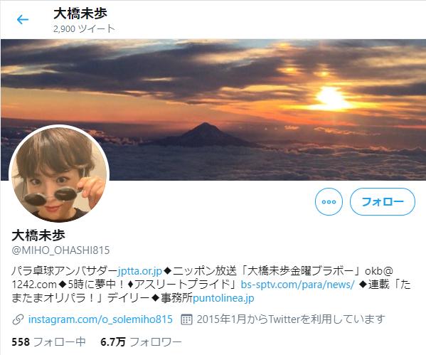 大橋美歩_ツイッター