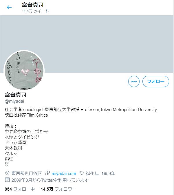 宮台真司_Twitterアカウント